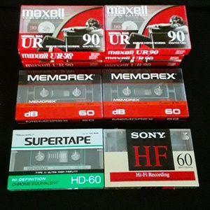 Maxell, Memorex, Sony & Realistic